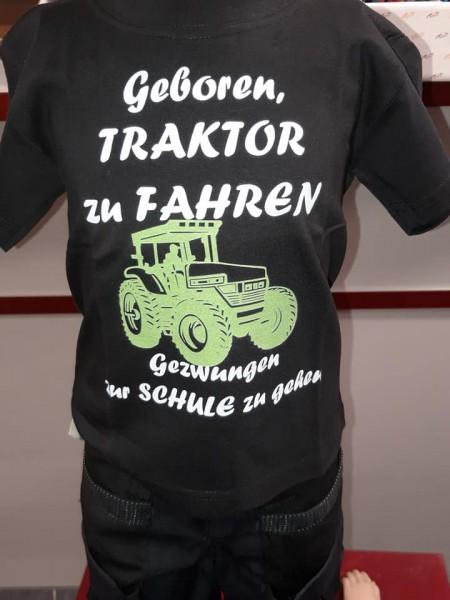 Kinder Fun T-Shirt Geboren Traktor zu fahren