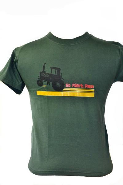 """Kinder-T-Shirt mit Aufdruck """"So fährt Papa"""""""