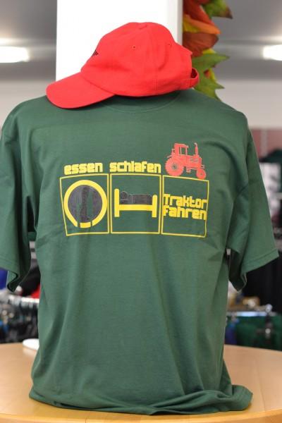 """T-Shirt """"essen-schlafen-Traktor fahren"""""""