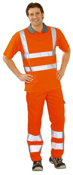 Warnschutz Polo-Shirt, zweifarbig