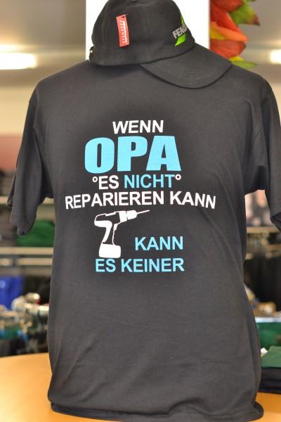 "T-Shirt ""Wenn Opa es nicht reparieren kann..."""